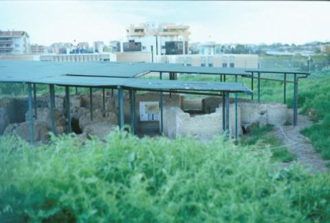 Area 1012: i resti della villa protetti da una tettoia
