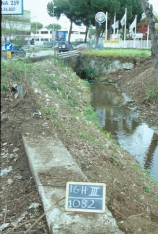 Area 1082: la situazione attuale della via Prenestina nel punto dell'attraversamento del fosso di Tor Tre Teste