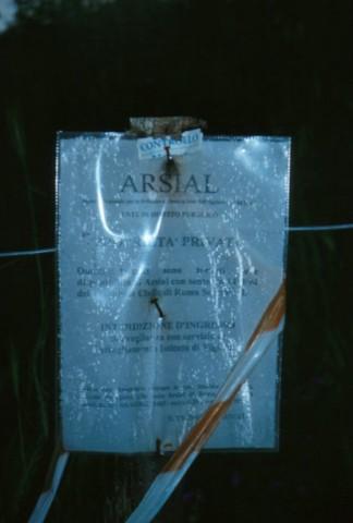 Area 1108: il cartello che indica la proprietà privata