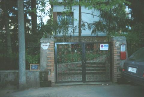 Area 1112: l'ingresso all'abitazione soprastante l'ipogeo