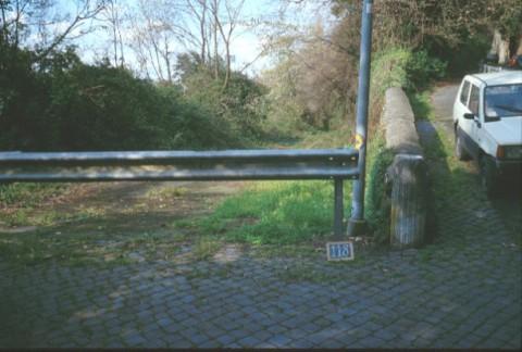 Area 118: l'area vista da via della Salita dei Parioli