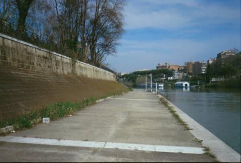 Area 119: l'argine del Tevere dove avrebbero dovuto trovarsi i resti dell'antica banchina