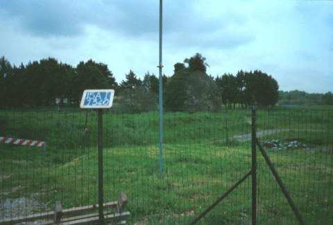 Area 1340: il sepolcro B visibile dall'esterno della recinzione