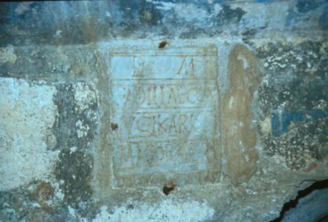 Area 1343: iscrizione marmorea con dedica a Fadilla