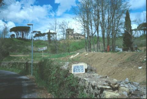 Area 146: Villa Manzoni vista dalla via Cassia