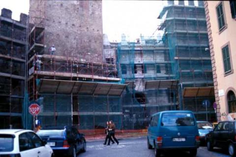 Area 156: una delle costruzioni sorte al di sopra della Porta Tiburtina