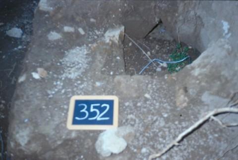 Area 352: particolare delle strutture emerse durante gli scavi della SAR