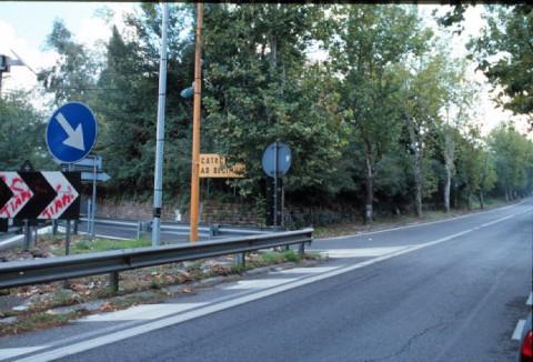 Area 3911: via Anagnina-l'indicazione delle catacombe