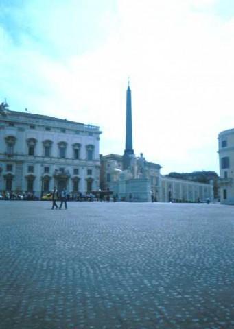 Area 4645: la fontana di Montecavallo con l'obelisco proveniente dal mausoleo di Augusto