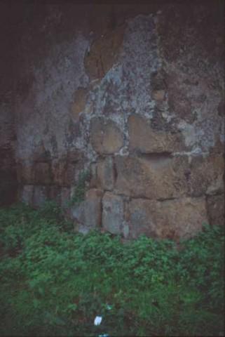 Area 5614: il materiale archeologico riutilizzato nella muratura della chiesa di S.Saba