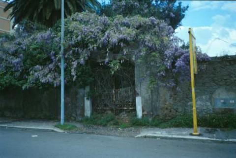 Area 968: l'ingresso alla proprietà dove la Carta dell'Agro segnala resti di muratura