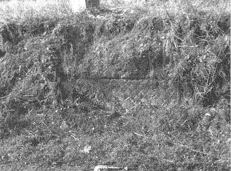 Il sepolcro in opera reticolata, già esistente su via Alecce (Quilici 1974, p.292, f.596)
