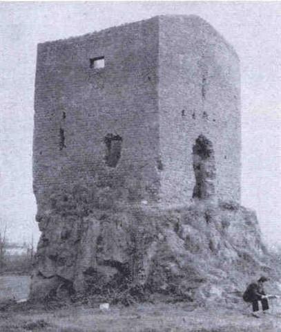 Quarto dell'Omo, torre medievale sulla confluenza dei fossi di Tor Tre Teste e di Tor Bella Monaca: vista da SO (Quilici 1974, p. 514, f.643)